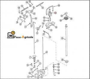 1983239C6, 198323943, 1983239C5, 1983239C3 (THREE POINT HITCH SWITCH)  Maneta Joystick Ridicare Tiranti Case IH