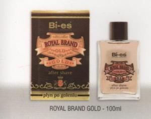 BI-ES, after shave Royal Brand Gold