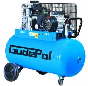 Compresor cu piston Gudepol 28-100-320; Rezervor 100l, Debit 320l/min, Presiune max. 10bar, Putere 2,2kW, Alimentare 400V