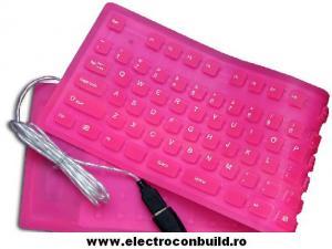 Tastatura flexibila Roz