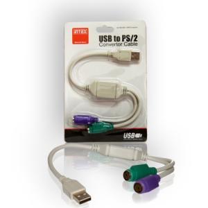 Cablu adaptor USB la 2 PS2 Intex