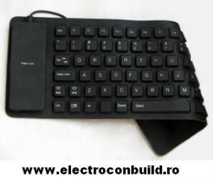 Tastatura flexibila Neagra