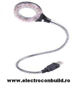 VEIOZA 18 LEDURI USB ON/OFF CU LUPA