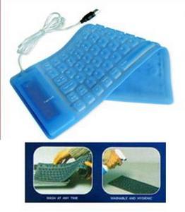 Tastatura Flexibila Albastra