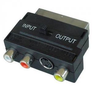 Adaptor Scart la 3RCA+SVHS cu intrerupator
