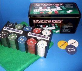 Set POKER Texas Hold'EM - 200 jetoane