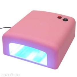 Lampa UV 36W pentru unghii perfecte - culoare roz