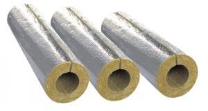 Cochilii din vata minerala bazaltica caserate cu folie de Aluminiu