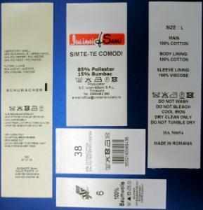 Etichete imprimate satin