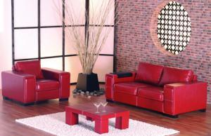 Canapele cu fotolii piele ecologica