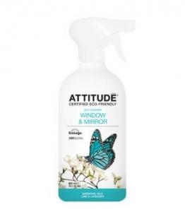 Solutie bio de curatat geamuri, lime si lavanda, 800 ml, Attitude