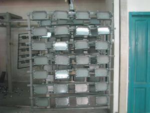 Piese vopsite in camp electrostatic
