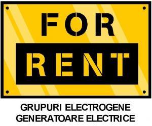 Inchiriere generator electric