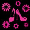 Sticker pantofi si flori