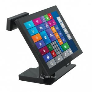 """POS All-In-One Aures Yuno cu Android, 15"""" (Display client - Ecran non-touch 10.1"""")"""
