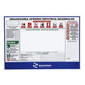 Semn PSI - Plan organizare impotriva incendiilor