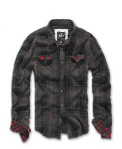 Camasa Checkshirt Duncan Black-Brown