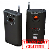 Detector laser universal de microfoane camere video spion