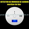 Avertizor detector senzor fum monoxid de carbon