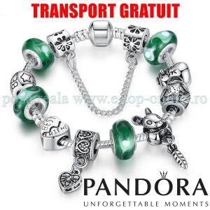 Bratara Dama Pandora Argint 925 Sticla Verde
