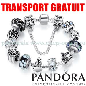 Bratara Dama Pandora Argint 925 Sticla Neagra