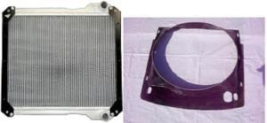 Radiator si carcasa ventilator JCB 3CX