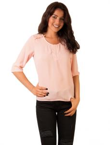 "Bluza Voal ""Heart Of Mine"" Pink"