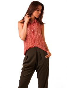 """Bluza Din Voal """"Girly Dots"""" Coral"""