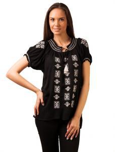 "Bluza Panza ""Love Traditional Embroidery"" Black&White"