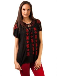 """Bluza Panza """"Love Traditional Embroidery"""" Black&Red"""