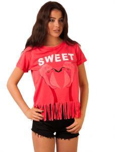 "Tricou ""Sweet Birds"" Fuchsia"