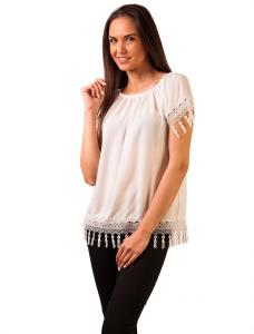 """Bluza Cu Broderie """"Morning Glow Lace"""" White"""
