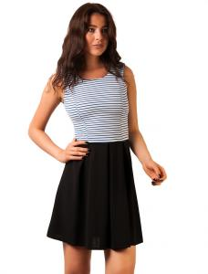 """Rochie Casual """"Tennessee Stripes"""" Navy&Black"""