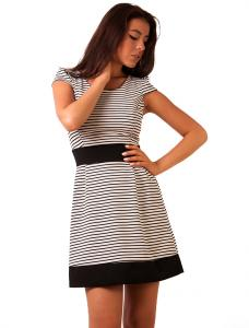 """Rochie Casual """"Tennessee Stripes"""" Black&White"""