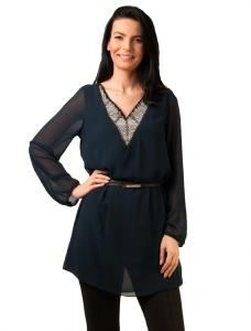 "Bluza ""Girl With A Pearl Long"" Navy"