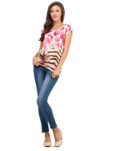 "Bluza ""Duo Animal"" Pink"