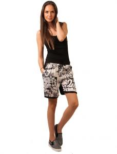 "Pantaloni Scurti ""Love 22"" Black&Grey"