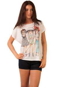 "Tricou Cu Imprimeu ""Golden Girls"" White"