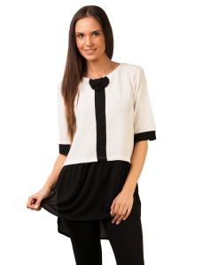 "Bluza ""Another Front Bow"" White&Black"