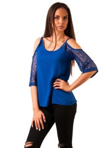 """Bluza Panza """"Party In The Back"""" Blue"""
