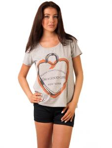 "Tricou Cu Imprimeu ""Please Don't Disturb"" Grey"