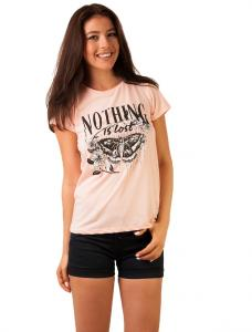 "Tricou Cu Imprimeu ""Nothing Is Lost"" Peach"
