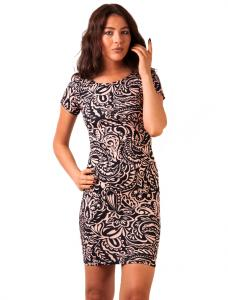 """Rochie Casual """"Into The Moonlight"""" Navy&Pink"""