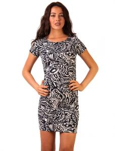 """Rochie Casual """"Into The Moonlight"""" Navy&White"""