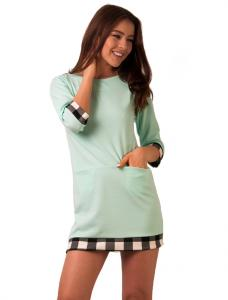 "Rochie De Primavara ""Parisian Style"" Mint Green"