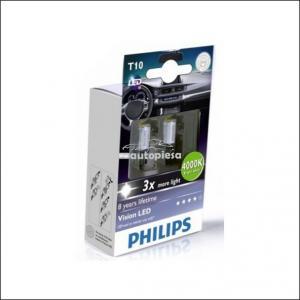 Bec Philips X-tremeVision LED W5W 4000K 12V 1W