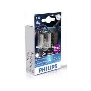 Bec Philips X-tremeVision W5W LED 6000K 12V 1W