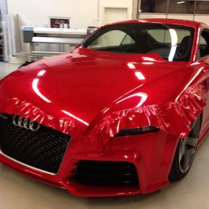 Folie , colant auto rosu 1 x 1.5 m latime