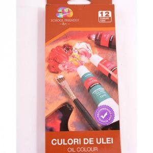 Culori ulei 12/set 12ml School Friendly
