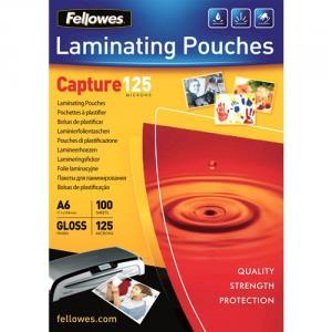 Folie laminat A6, 125 microni Fellowes